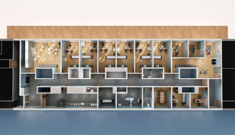 Floor plan visualization Digitalnity Schweiz